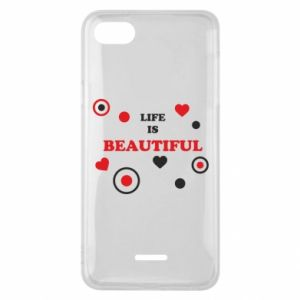 Phone case for Xiaomi Redmi 6A Life is beatiful,  color