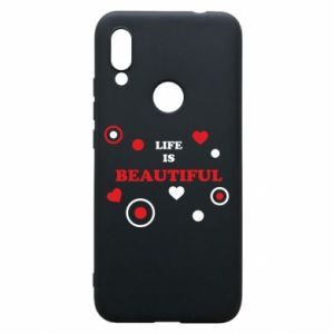 Phone case for Xiaomi Redmi 7 Life is beatiful,  color