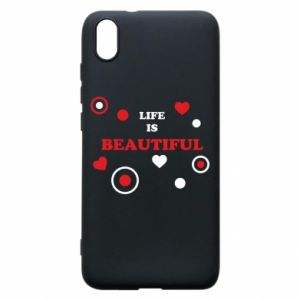 Phone case for Xiaomi Redmi 7A Life is beatiful,  color