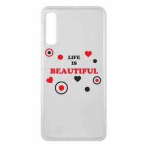 Phone case for Samsung A7 2018 Life is beatiful,  color