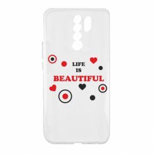 Etui na Xiaomi Redmi 9 Life is beatiful, color