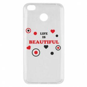 Etui na Xiaomi Redmi 4X Life is beatiful, color