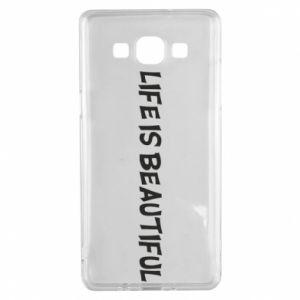 Etui na Samsung A5 2015 Life is beatiful