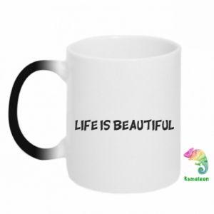 Kubek-magiczny Life is beatiful