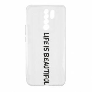 Etui na Xiaomi Redmi 9 Life is beatiful