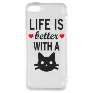 iPhone 5/5S/SE Case Life is better with a cat