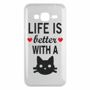 Samsung J3 2016 Case Life is better with a cat