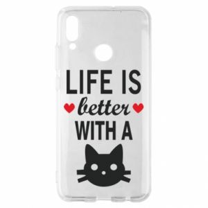 Huawei P Smart 2019 Case Life is better with a cat