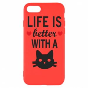 iPhone SE 2020 Case Life is better with a cat