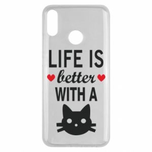 Huawei Y9 2019 Case Life is better with a cat