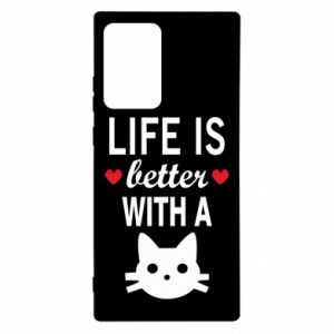 Samsung Note 20 Ultra Case Life is better with a cat