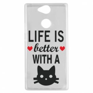 Sony Xperia XA2 Case Life is better with a cat