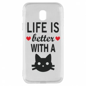 Samsung J3 2017 Case Life is better with a cat