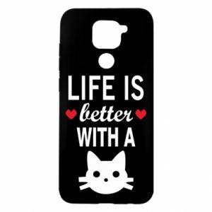 Xiaomi Redmi Note 9 / Redmi 10X case % print% Life is better with a cat