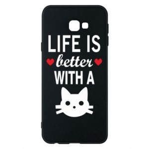 Samsung J4 Plus 2018 Case Life is better with a cat