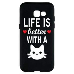 Samsung A5 2017 Case Life is better with a cat