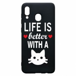 Samsung A20 Case Life is better with a cat