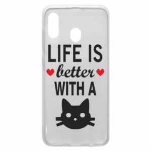 Samsung A30 Case Life is better with a cat