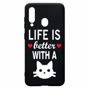 Samsung A60 Case Life is better with a cat