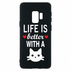 Samsung S9 Case Life is better with a cat