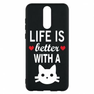 Huawei Mate 10 Lite Case Life is better with a cat