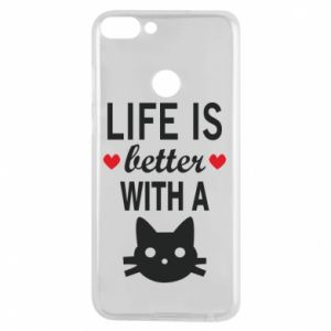 Huawei P Smart Case Life is better with a cat