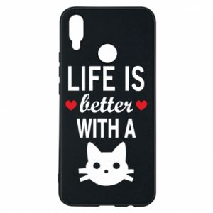 Huawei P Smart Plus Case Life is better with a cat