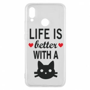 Huawei P20 Lite Case Life is better with a cat