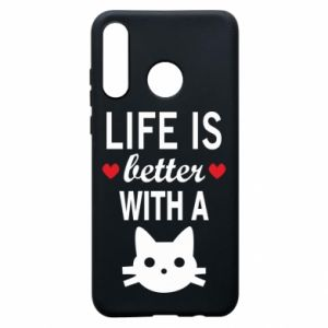 Huawei P30 Lite Case Life is better with a cat