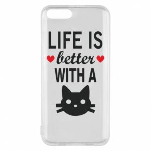 Xiaomi Mi6 Case Life is better with a cat