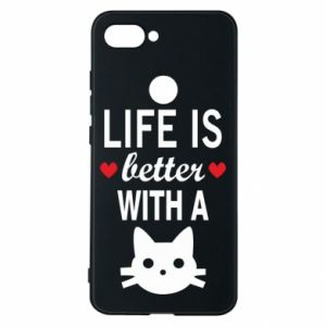 Xiaomi Mi8 Lite Case Life is better with a cat