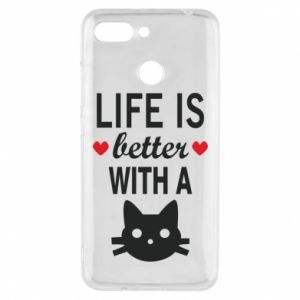 Xiaomi Redmi 6 Case Life is better with a cat