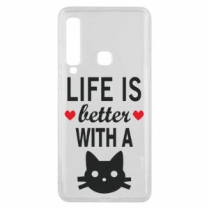 Samsung A9 2018 Case Life is better with a cat