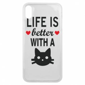 iPhone Xs Max Case Life is better with a cat