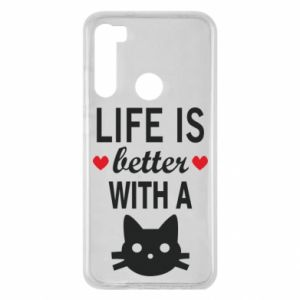 Xiaomi Redmi Note 8 Case Life is better with a cat