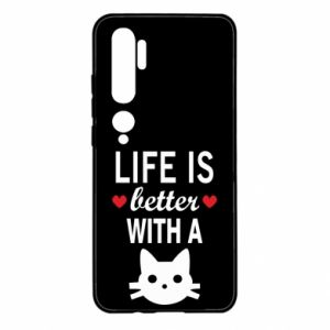 Xiaomi Mi Note 10 Case Life is better with a cat