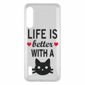 Xiaomi Mi A3 Case Life is better with a cat