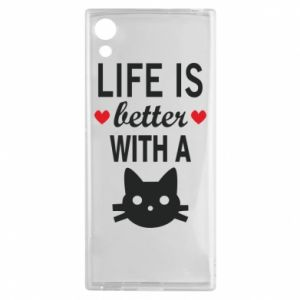 Sony Xperia XA1 Case Life is better with a cat