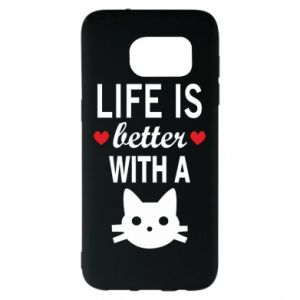Samsung S7 EDGE Case Life is better with a cat