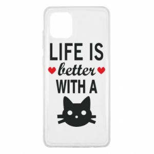 Samsung Note 10 Lite Case Life is better with a cat