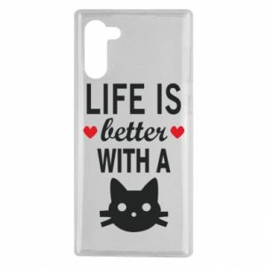 Samsung Note 10 Case Life is better with a cat