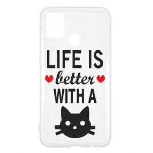 Samsung M31 Case Life is better with a cat