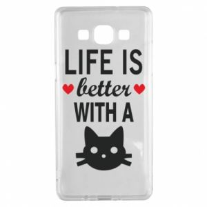 Samsung A5 2015 Case Life is better with a cat