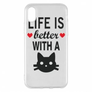 iPhone X/Xs Case Life is better with a cat
