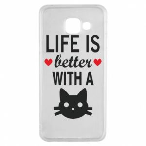 Samsung A3 2016 Case Life is better with a cat