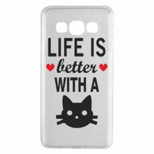 Samsung A3 2015 Case Life is better with a cat