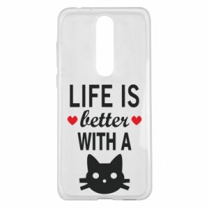Nokia 5.1 Plus Case Life is better with a cat
