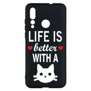 Huawei Nova 4 Case Life is better with a cat