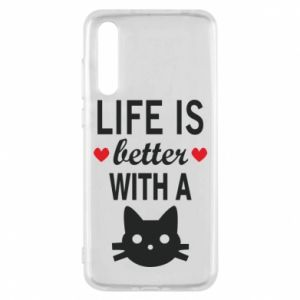 Huawei P20 Pro Case Life is better with a cat