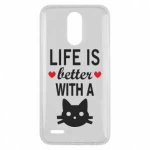 Lg K10 2017 Case Life is better with a cat